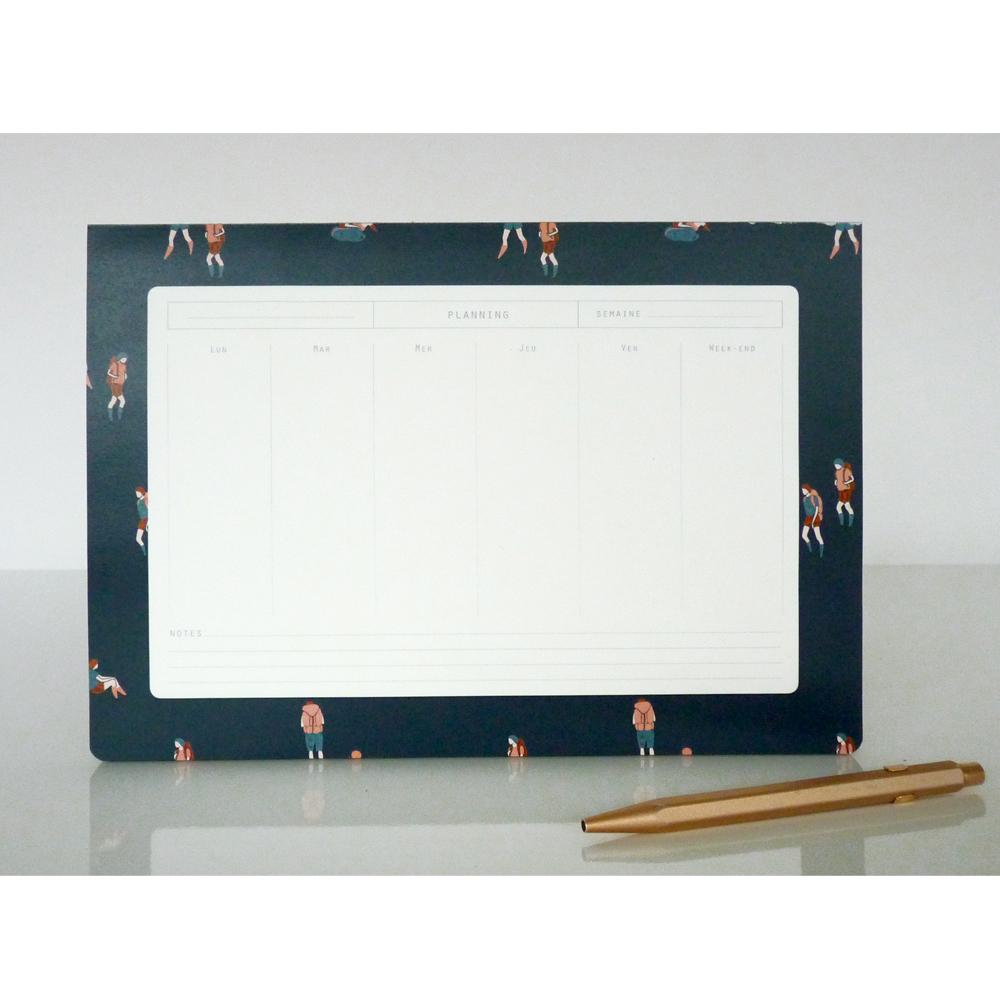 Season Paper Collection Semainier randonneurs Bleu-product