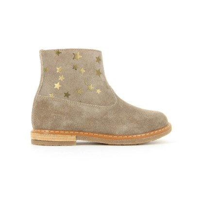 Pom d'Api Boots Suède Etoiles Zip Trip-listing