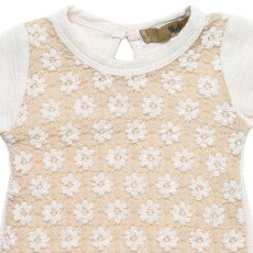 Gold Terri Japanese Lace Cotton T-Shirt -listing