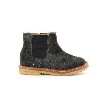 Pom d'Api Boots Suède Suzet Jodzip-listing