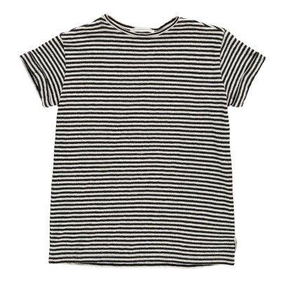 Les coyotes de Paris Striped Cotton Linen Clemency T-Shirt-listing