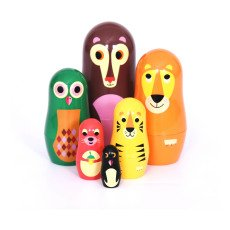 Omm Design Animals Matrioshca Dolls-listing