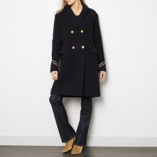 Les coyotes de Paris Wool Sammy Coat with Chevron Pattern on Wrists-listing