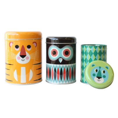 Omm Design Scatole da biscotti Animali - Set di 3-product