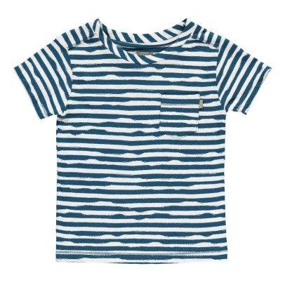 Kidscase Gestreiftes T-Shirt aus Bio-Baumwolle Wave -listing