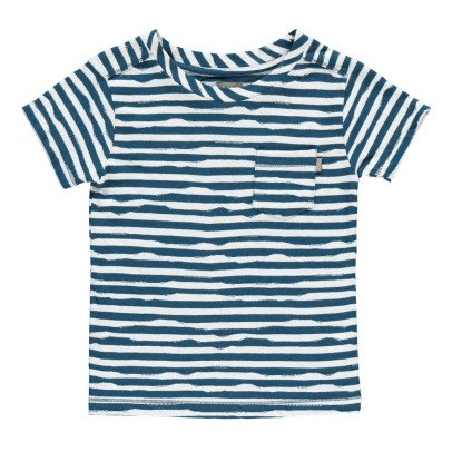 Kidscase Wave Organic Cotton Striped T-Shirt-listing