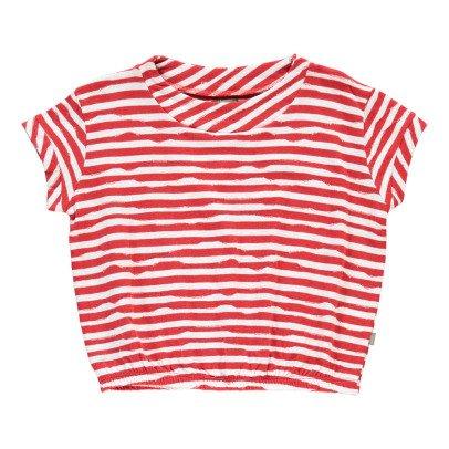 Kidscase T-shirt Loose Righe Cotone Bio Wave-listing