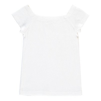 NICE THINGS MINI Ribbed Square Neck T-Shirt -listing