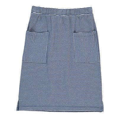 NICE THINGS MINI Striped Midi Skirt-listing