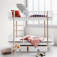 Oliver Furniture Oak Bunkbed with Front Ladder 90x200cm-listing