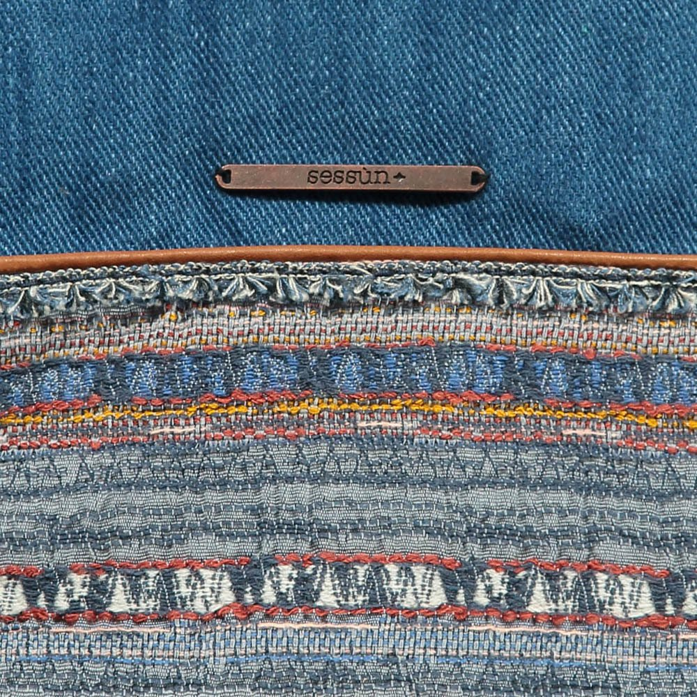 Jazmin Denim and Jacquard Pouch-product