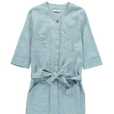 Sessun Belle Star Linen and Cotton Chambray Jumpsuit-listing