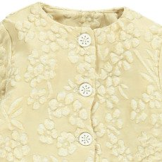 Gold Chaqueta Acolchada Flores Jackie Crudo-listing