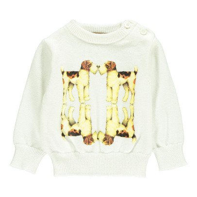 Gold Pullover Perros Pol Blanco-listing
