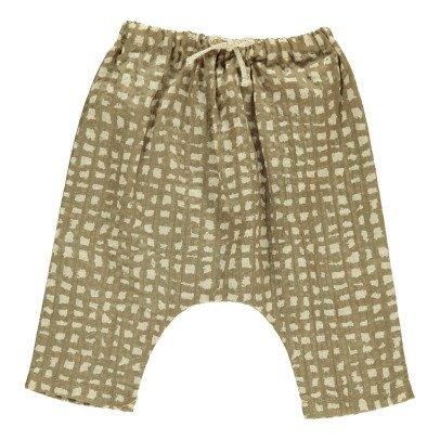 Gold Baset Checked Harem Trousers Hazel-product