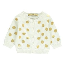 product-Gold Callo Polka Dot Cardigan White