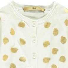 Gold Cardigan Pois Callo Bianco-listing