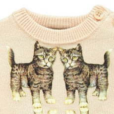 Gold Pullover Gatos Pol Rosa Polvo-listing