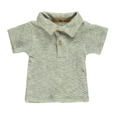 Gold Petro Japanese Cotton Polo Heather grey-listing