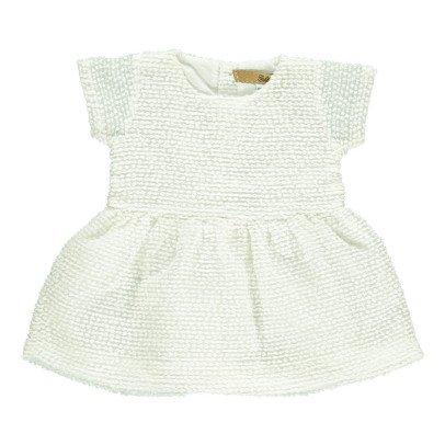 Gold Kinge Spot Voile Dress-listing
