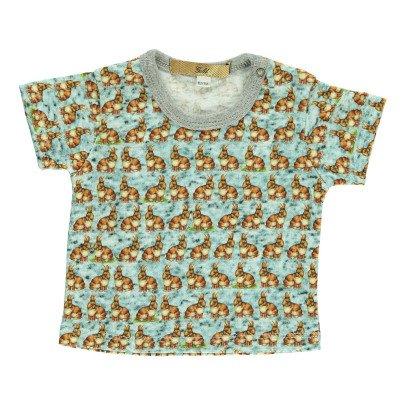 Gold Tino Rabbit T-Shirt Blue-listing