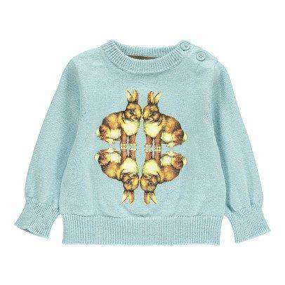 Gold Pullover Conejos Pol Azul Cielo-listing