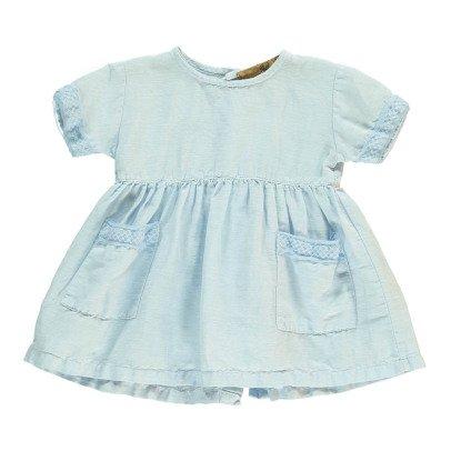 Gold Kis Cotton an Linen Dress Light blue-listing