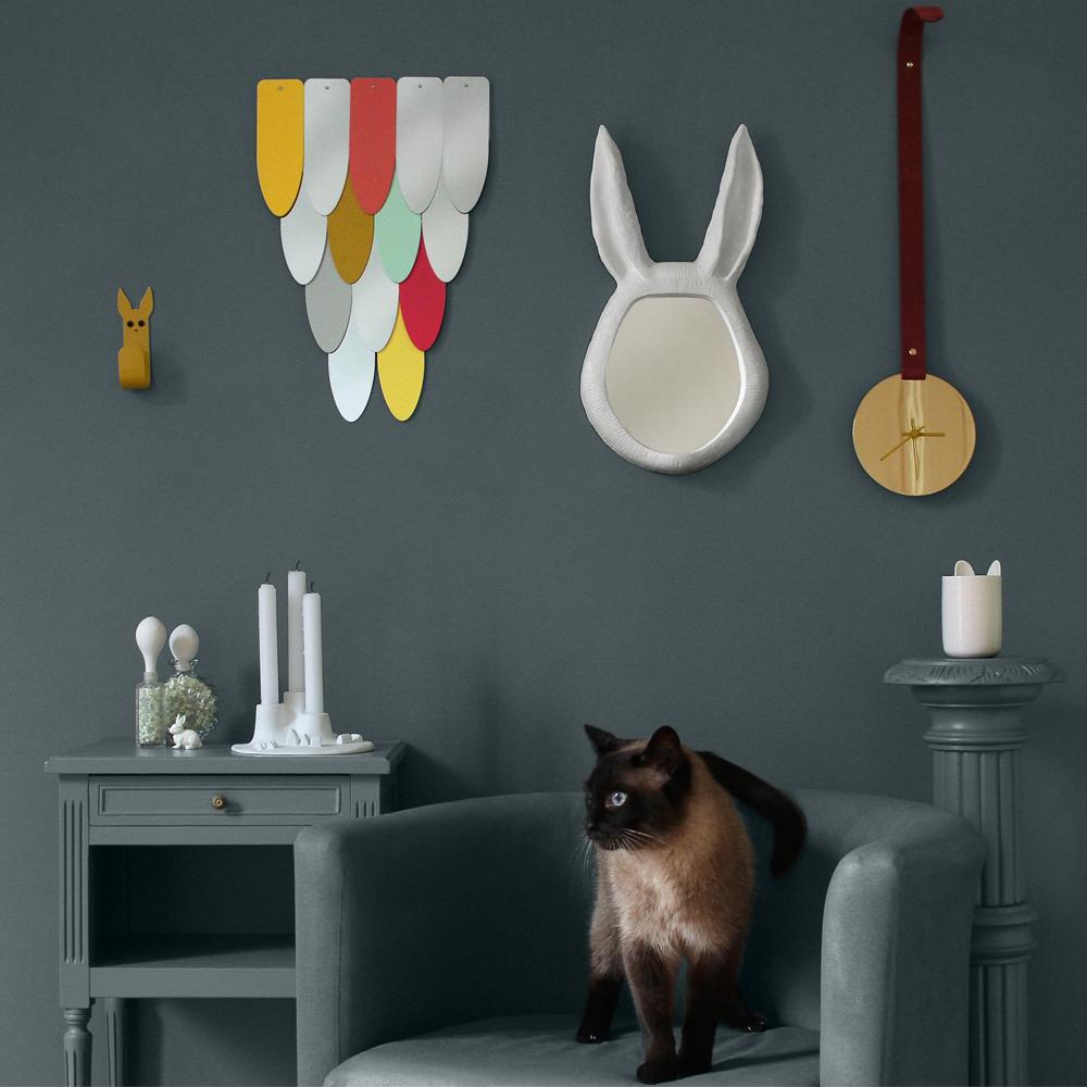 Maisonnée Miroir Eon en acier laqué-product