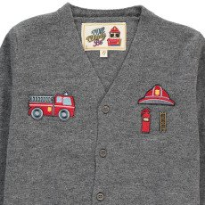 Will Woody Be Fireman Woollen Cardigan-listing