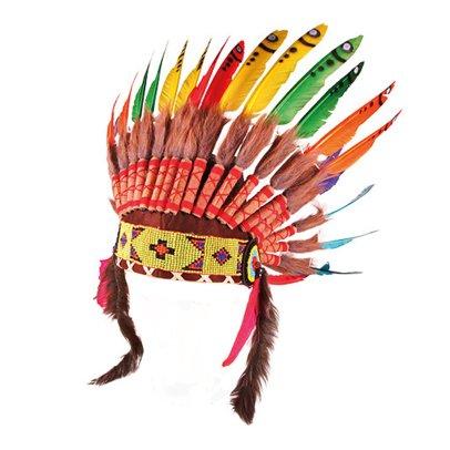 Smallable Toys Coiffe d'indien à plumes arc-en-ciel-product