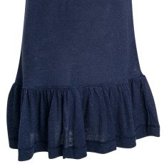 Little Remix New Blos Rayon and Linen Ruffled Long T-Shirt-listing