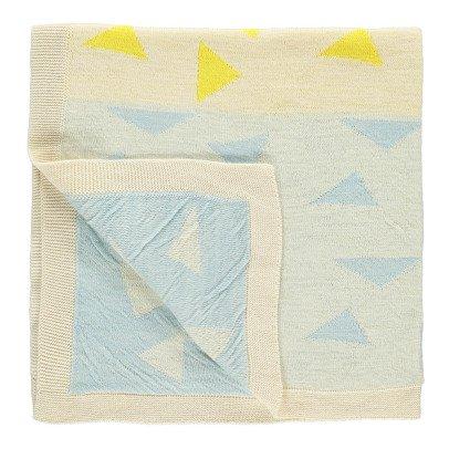 Whole Couverture de bébé en tricot jacquard Woca Triangles 90x90 cm-listing