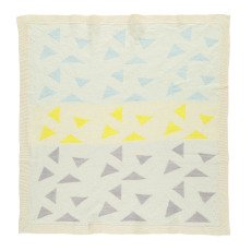 Whole Coperta Neonato uncinetto jacquard Woca Triangles 90x90 cm-listing