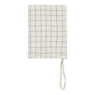 Linge Particulier Paño lino lavado Cuadros XL Blanco- Azul Marino 55x80 cm-product