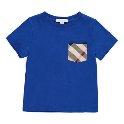 Burberry T-Shirt Détail Poche Tartan-listing