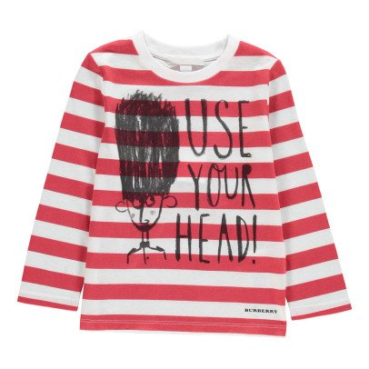 Burberry T-Shirt Righe Use Your Head-listing