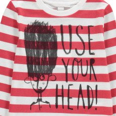 Burberry Use Your Head Striped T-Shirt-listing