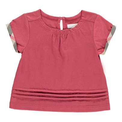 Burberry T-Shirt Gisselle Liseré Tartan-listing