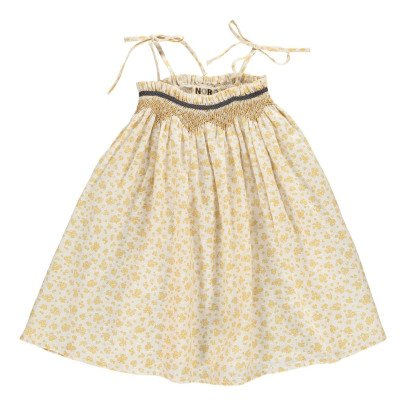 Noro Vestido Lino Flores Cereza-listing