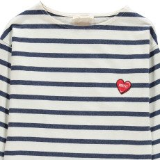 Hundred Pieces T-shirt Righe Heart`-listing