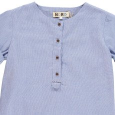 Noro Hanoi Mini Check Short Sleeved Kurta-listing