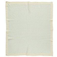 Whole Manta de bebé tricot jacquard Woca Rice 90x90 cm-listing