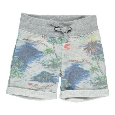AO76 Palm Tree Fleece Bermuda Shorts-listing