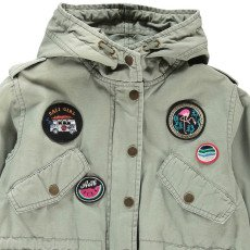 AO76 Patchwork Hooded Jacket-product