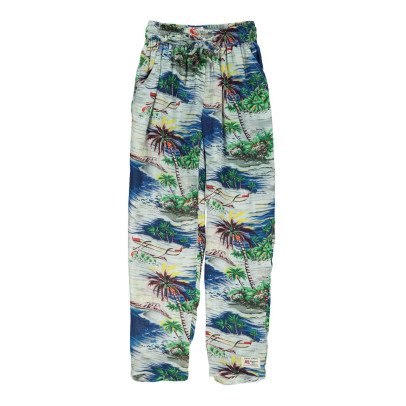 AO76 Hawaii Palm Grove Loose Trousers-listing