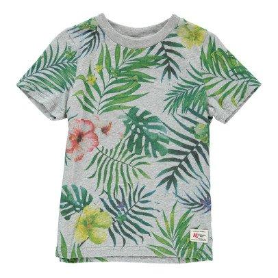 AO76 T-shirt Feuilles Palmiers-listing