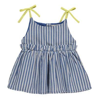 Bonnet à pompon Vestito Prendisole Righe-listing