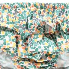 Bonnet à pompon Mosaïque Ruffled Swimming Bottoms-listing