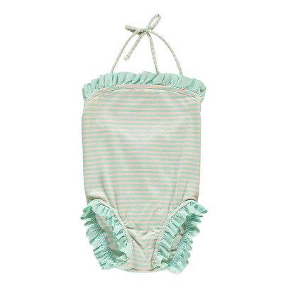 Bonnet à pompon Baby Badeanzug mit Rüschen -listing