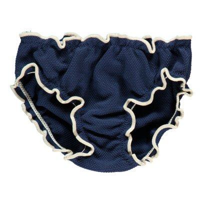 Bonnet à pompon Culotte de Bain-listing